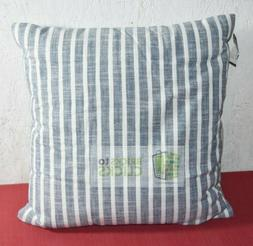 "Threshold- Woven Stripe Square Throw Pillow Blue, 18"" X 18"""