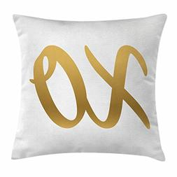 Xo Decor Throw Pillow Cushion Cover by Ambesonne, Classic Tr