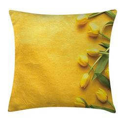 Yellow Decor Throw Pillow Cushion Cover by Ambesonne, Danish