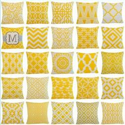 Yellow Throw PILLOW COVER Home Decor Sofa Bed Cushion Case D