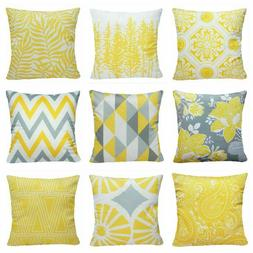 Yellow Soft Accent Throw PILLOW COVER Sofa Couch Bed Premium