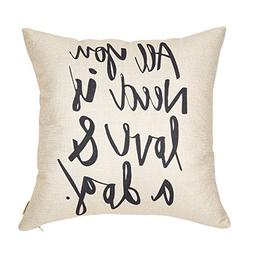 Fjfz All You Need is Love and a Dog Lover Quote Cotton Linen